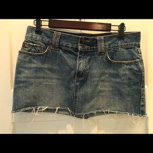 A&F Vintage Denim Mini Skirt